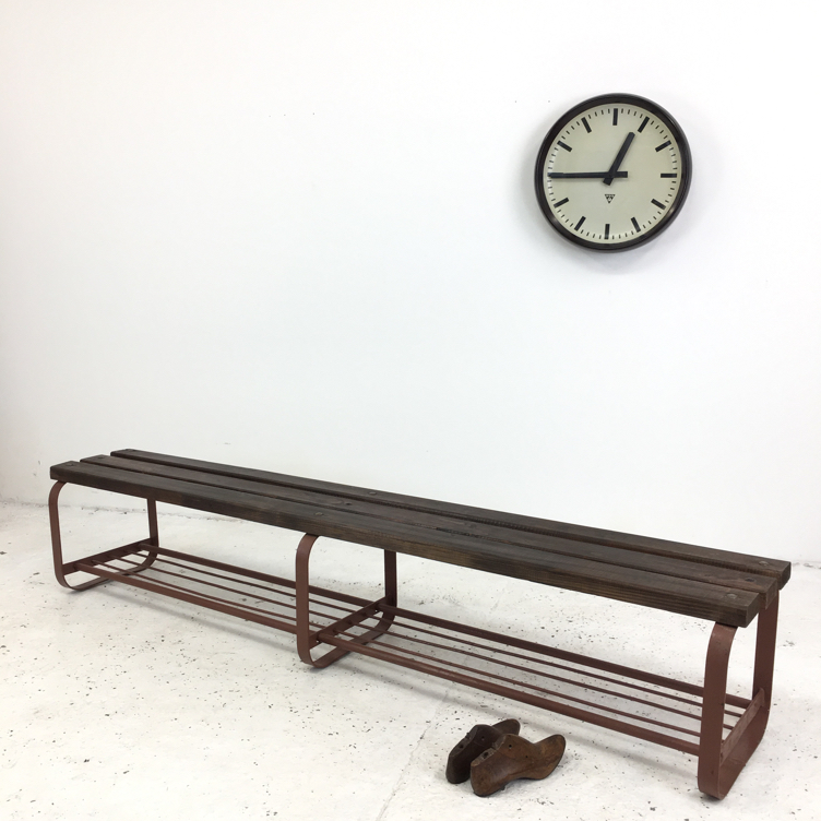 Czech School Locker Room Bench