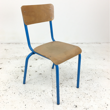 Load image into Gallery viewer, French School Blue Stacking Vintage Chair