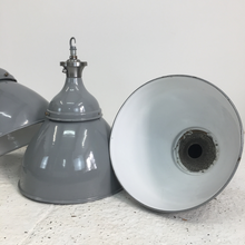 Load image into Gallery viewer, Grey Dome Benjamin Industrial Pendant Light-1