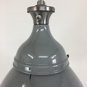 Grey Dome Benjamin Industrial Pendant Light-1