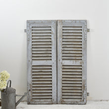 Load image into Gallery viewer, Grey Vintage French Shutters