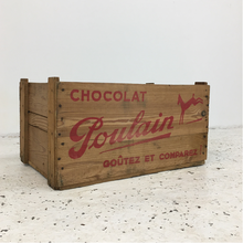 Load image into Gallery viewer, Medium Chocolat Poulain Wooden Crate