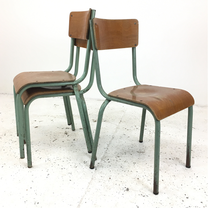 Original Green French School Mullca Chair