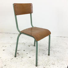 Load image into Gallery viewer, Original Green French School Mullca Chair