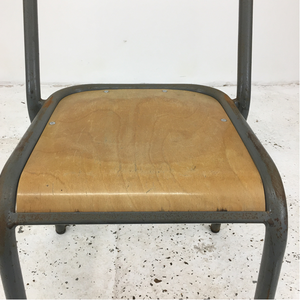 Original Grey French School Chair