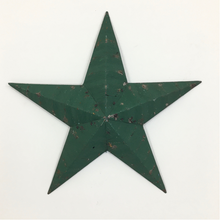 Load image into Gallery viewer, Original Metal Dark Green 18 inch Amish Barn Star