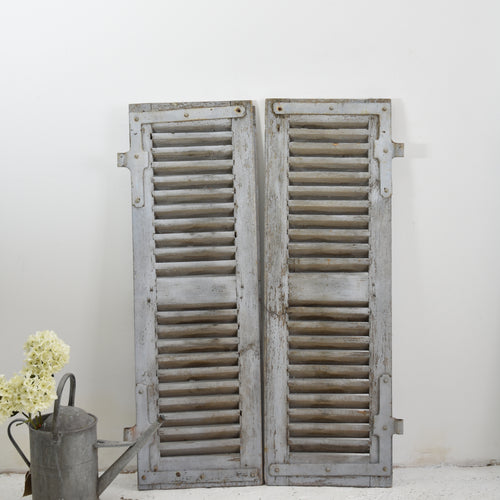 Rustic Grey Vintage French Shutters