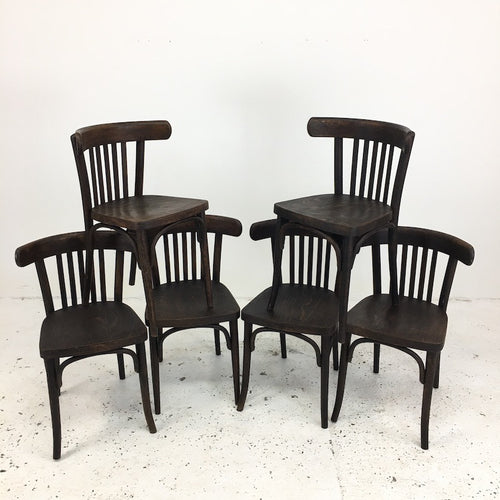 Set of 6 TON Thonet Bistro Chairs