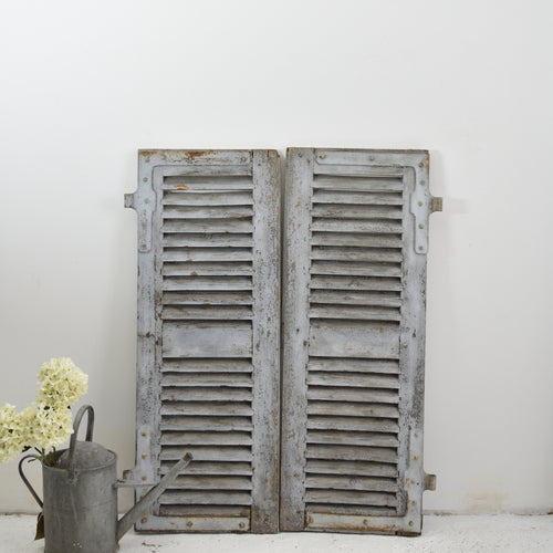 Short Grey Vintage French Shutters