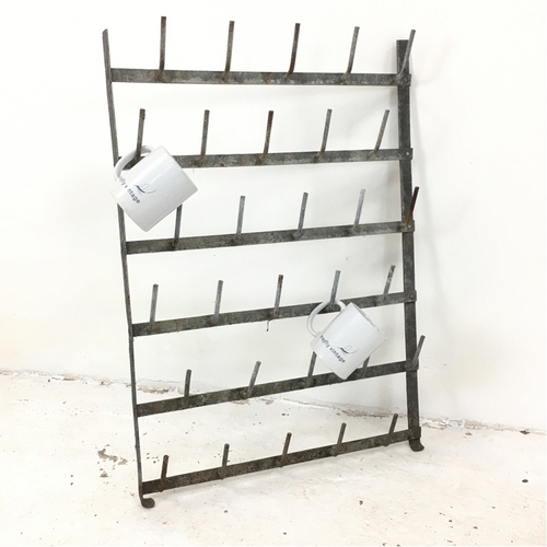 Vintage French Wall Bottle Dryer