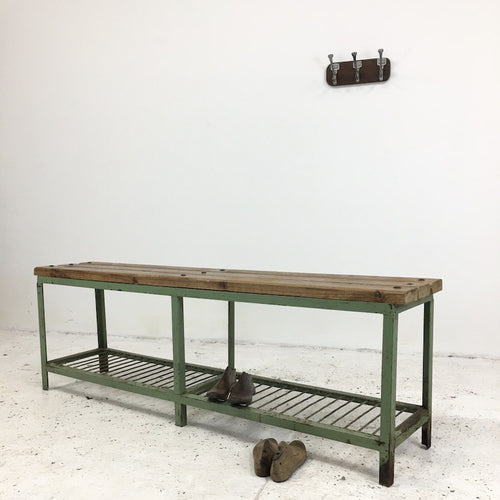 Vintage Locker Room Bench