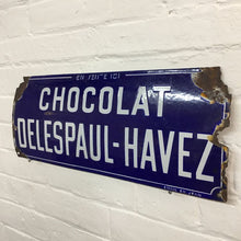 Load image into Gallery viewer, Original French Vintage Enamel Sign - Chocolat