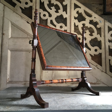 Early 19th century dressing toilet mirror
