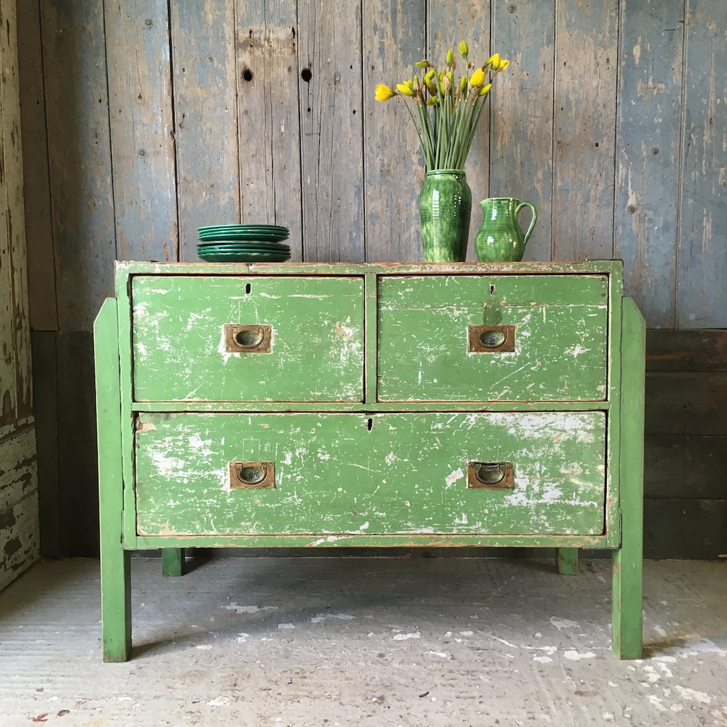 Victorian Pine Campaign Drawers
