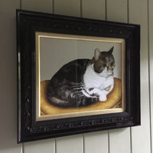 Load image into Gallery viewer, Tabby cat portrait watercolour painting
