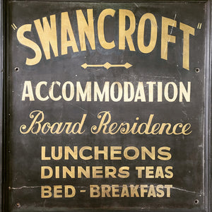 Vintage painted trade sign - 'Swancroft'