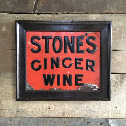 Stone's Ginger Wine tin sign