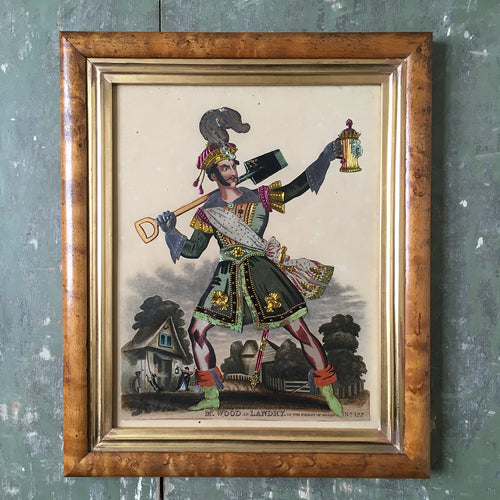 Victorian Theatrical Tinsel Print 'Mr Wood as Land