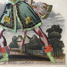 Load image into Gallery viewer, Victorian Theatrical Tinsel Print 'Mr Wood as Land