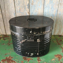 Load image into Gallery viewer, Black Victorian Hat Tin Trunk