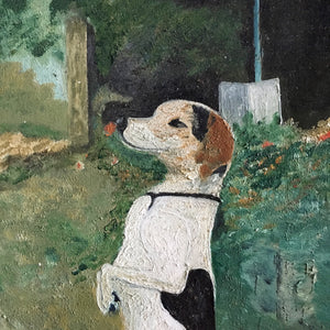Naïve Dog Oil Painting