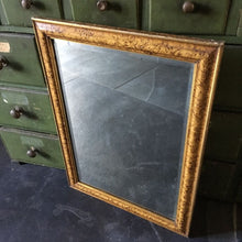 Load image into Gallery viewer, Antique Scumbled Paint Mirror