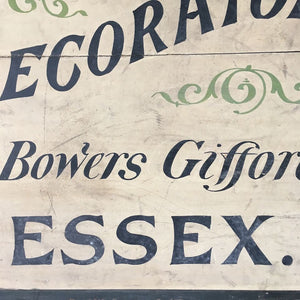 Early 20th Century Painted Trade Sign
