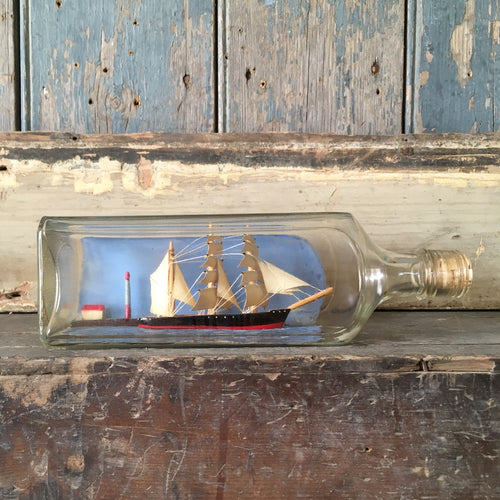 Folk art ship in bottle #3