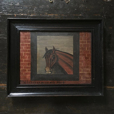 Naive horse oil painting - No.2