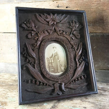Load image into Gallery viewer, Antique Folk Art Carved Frame - Woman