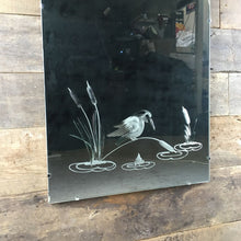 Load image into Gallery viewer, Engraved Kingfisher Decorative Mirror