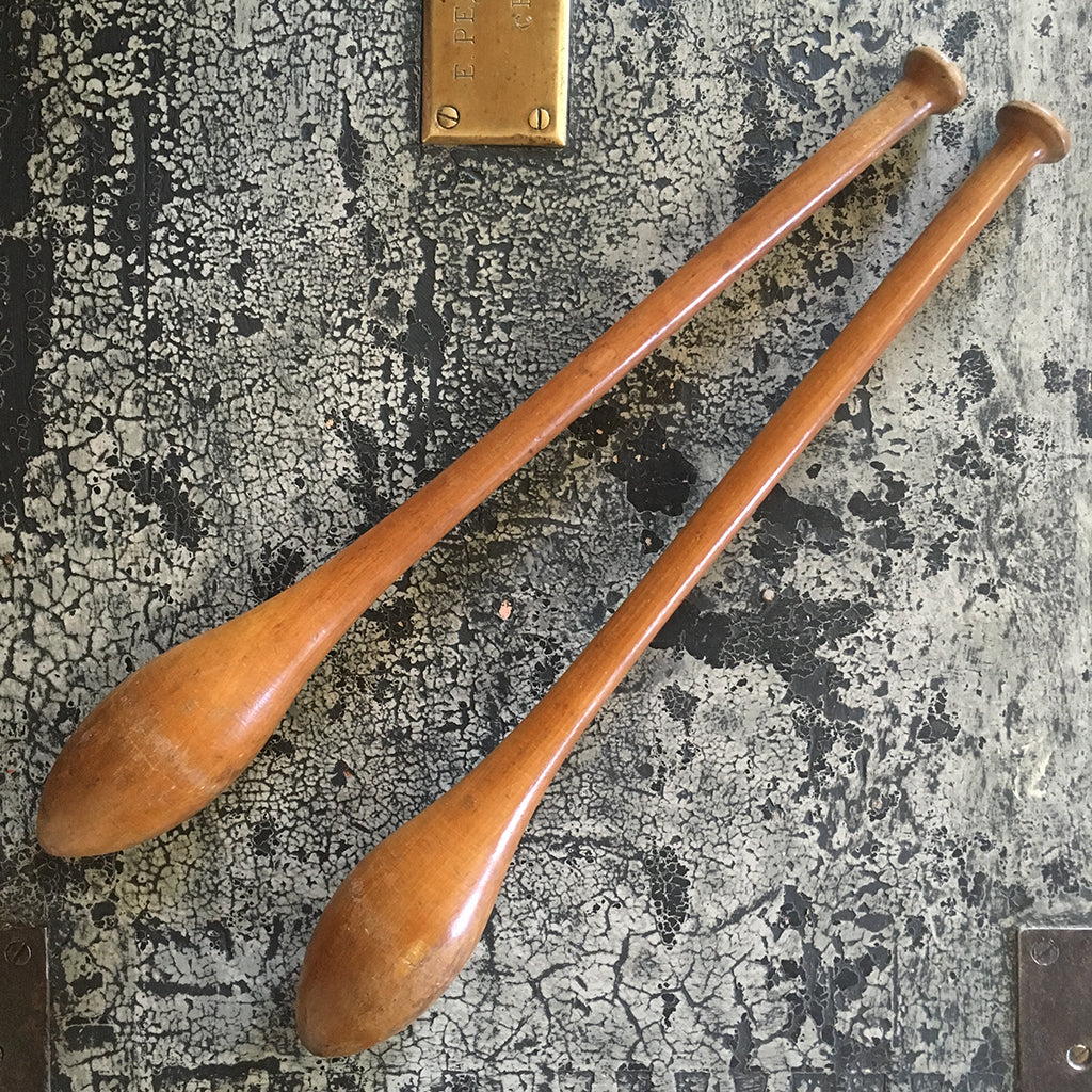 Pair of Vintage Indian Clubs