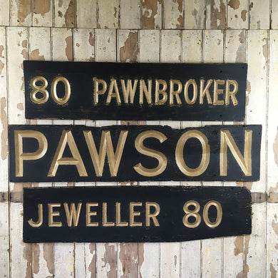 Edwardian Pawnbroker shop sign
