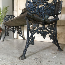 Load image into Gallery viewer, Victorian cast iron garden bench - ivy