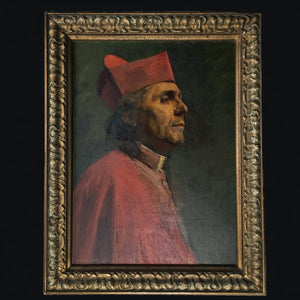Cardinal portrait oil painting by Gertrude Steel