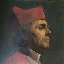 Load image into Gallery viewer, Cardinal portrait oil painting by Gertrude Steel