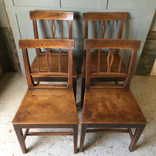 Load image into Gallery viewer, Four Georgian elm dining chairs - c1820-30