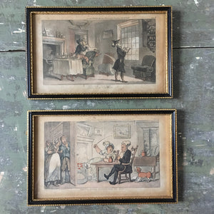 Pair of Rowlandson 'Dr. Syntax' prints, c.1812