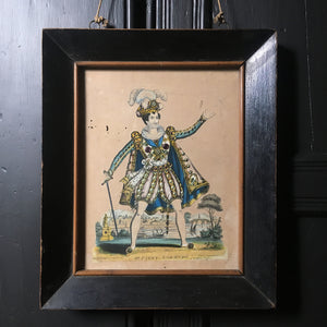 Victorian theatre tinsel print - 'Mr Parry'