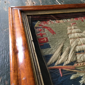 Antique sailor's woolwork - Barque Angola