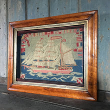 Load image into Gallery viewer, Antique sailor's woolwork - Barque Angola