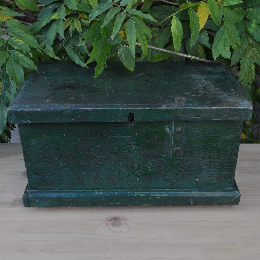Small Rustic Made Green Tool Box