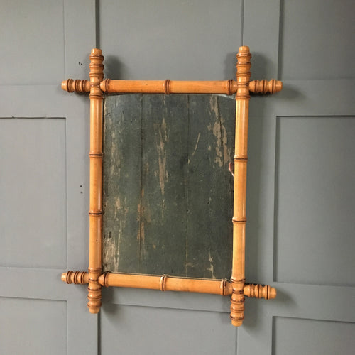 Vintage faux bamboo mirror - Medium (2)