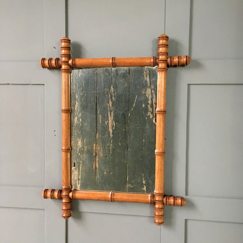 Vintage faux bamboo mirror - Medium (3)