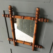 Load image into Gallery viewer, Vintage faux bamboo mirror - small