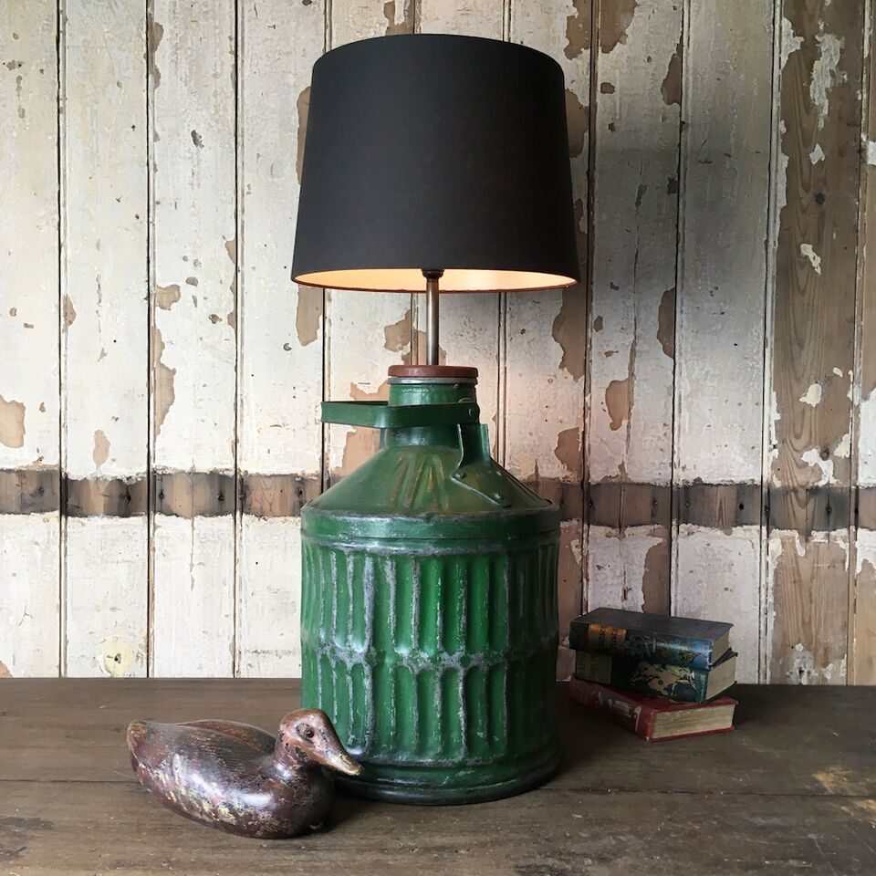Vintage Industrial Metal Table Lamp - No.4