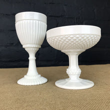 Load image into Gallery viewer, Set of Two Milk Glass Goblets