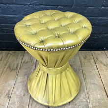 Load image into Gallery viewer, Vintage Chesterfield Leather Stool