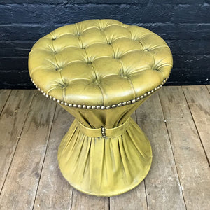 Vintage Chesterfield Leather Stool