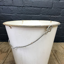 Load image into Gallery viewer, White Vintage Enamelled Bucket with Metal Handle